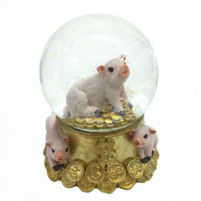 L53902  (1-48) Свинья в шаре 8*8*9см