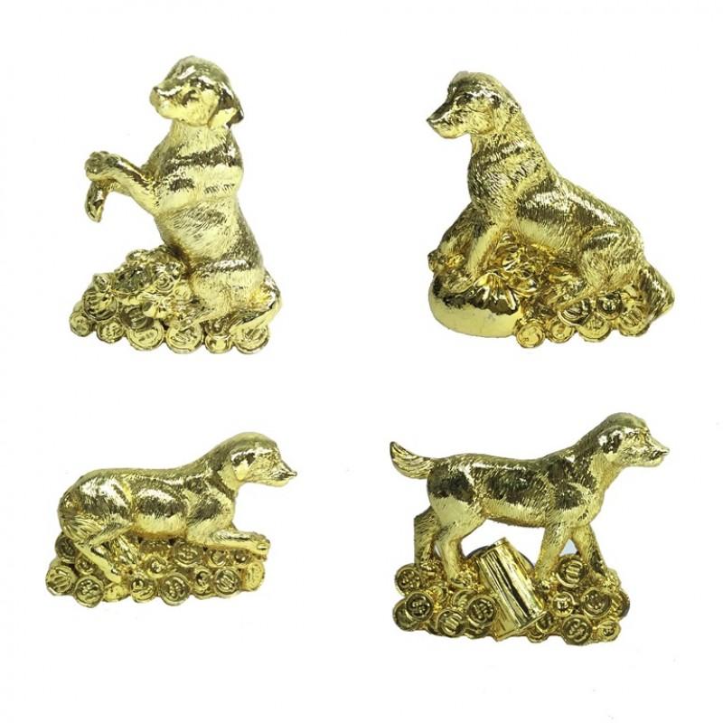 FH-18006  (24-288) Собака магнит  4вида  24шт/уп.  24К gold-planet 6*6*4см