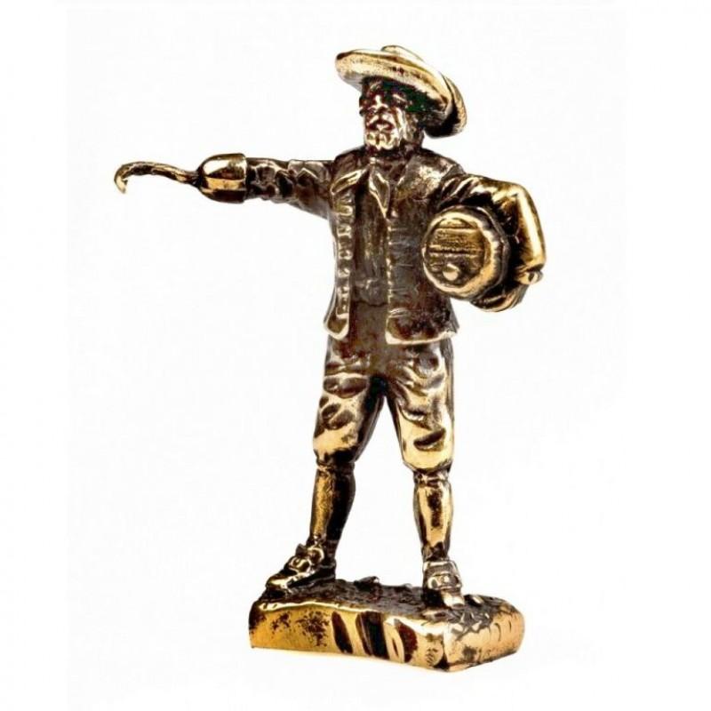 151669 Фигурка литая металлическая Пират Капитан Морган, латунь в подарочной упаковке