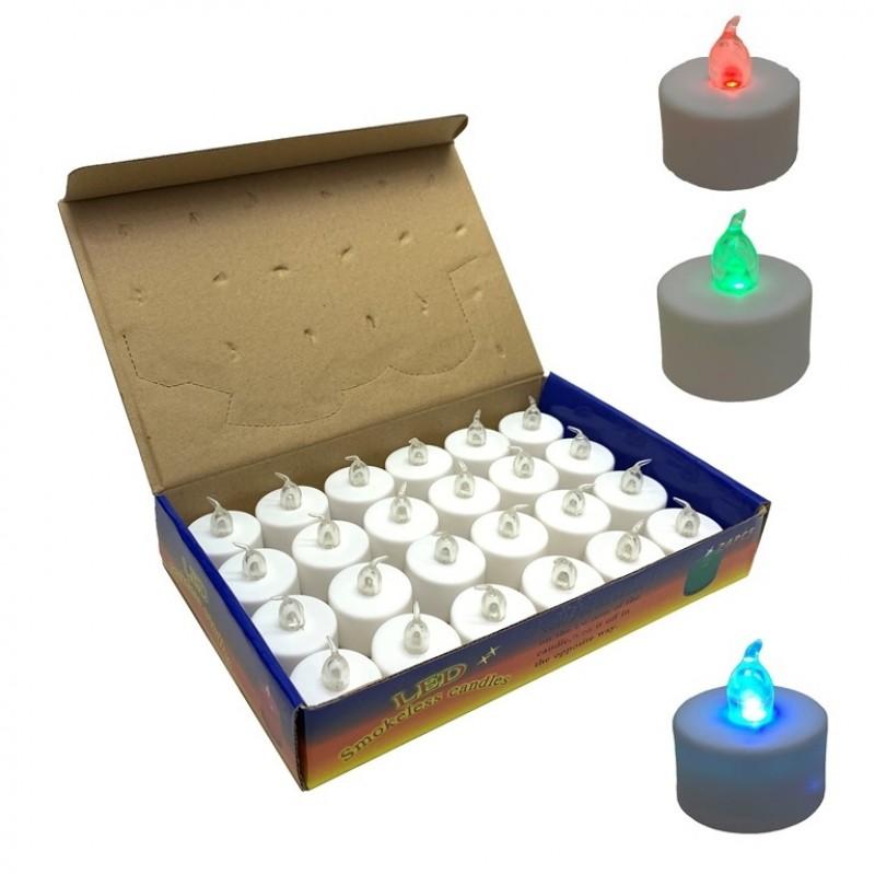 MML14670  (24-1248) Свеча пласт. на батарейках 4*4см