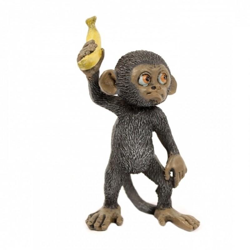 EVE50247  (1-96) Обезьянка с бананом 5.5*4*9см