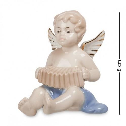 JP- 14/ 7 Фигурка ''Ангелочек-музыкант'' (Pavone) 8см