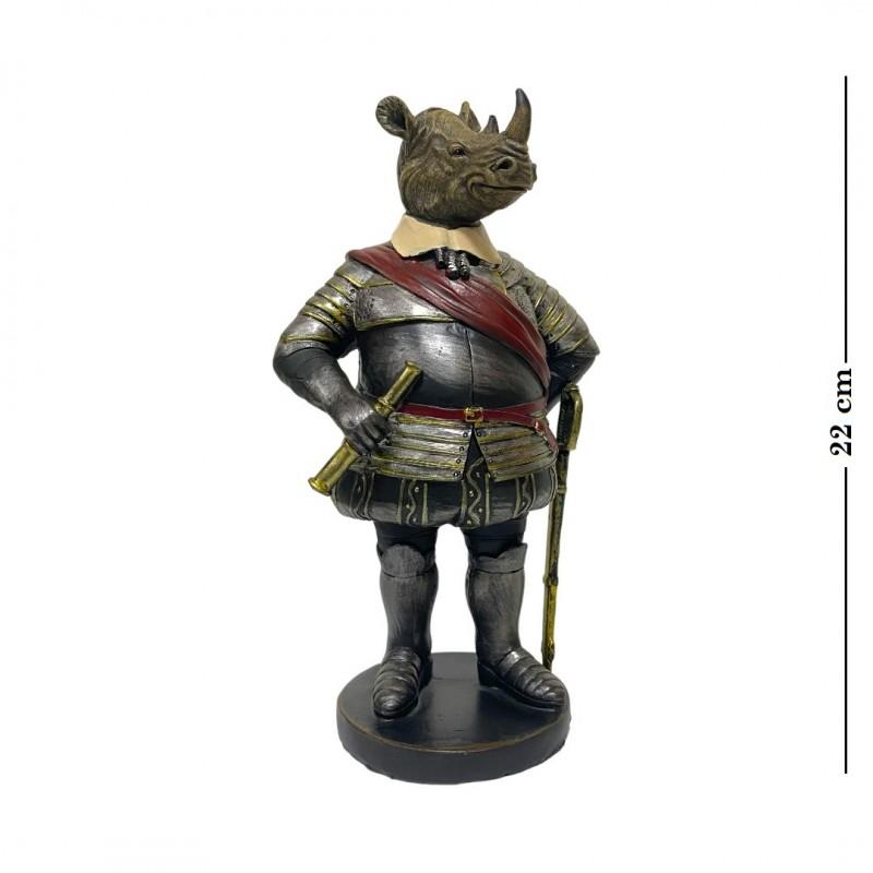 L53707  (1-18) Носорог в доспехах 12.5*9*22.5 см