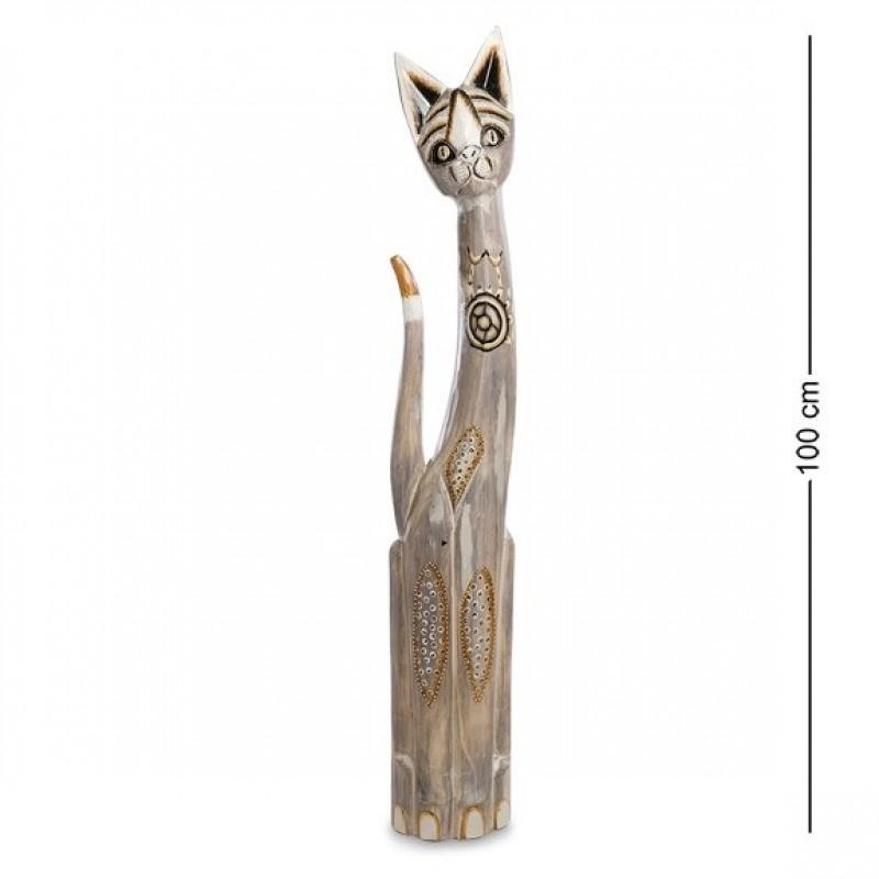 99-220 Статуэтка ''Кошка'' 100 см (албезия, о.Бали)