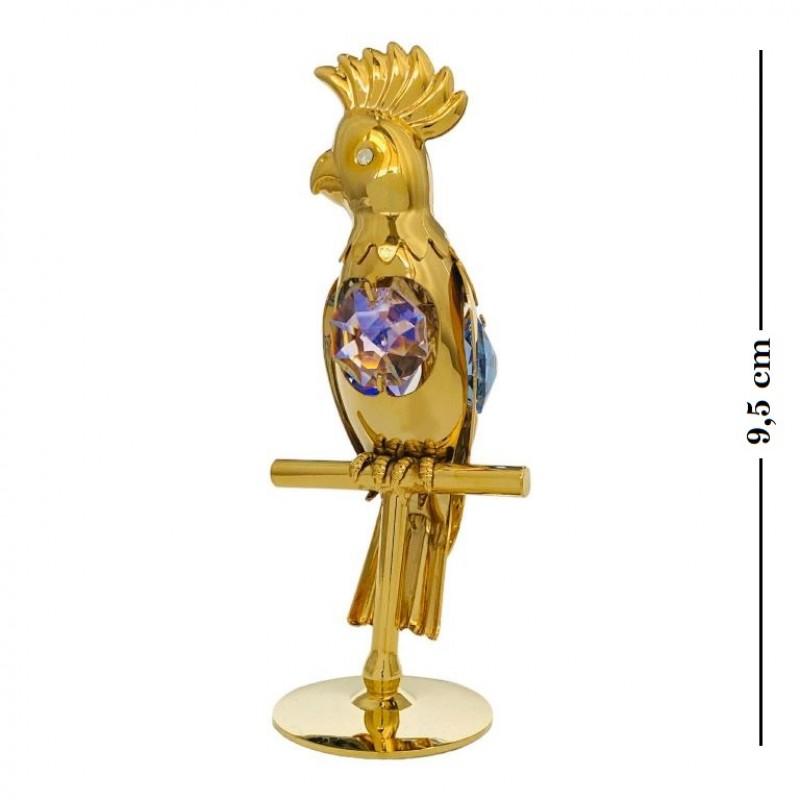 Swarovski 1018/ 1 Фигурка Попугай цветной камень 9,5см