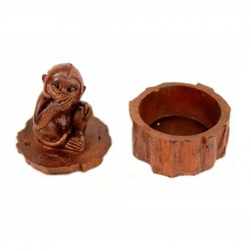 EPW31927  (1-72) Шкатулка обезьяна 7*6*9см
