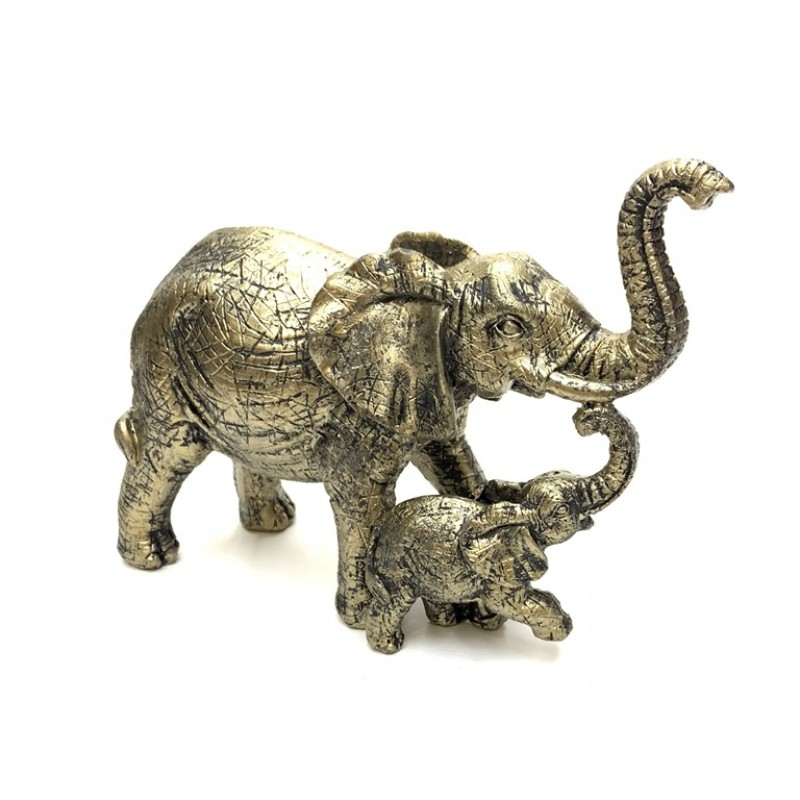 KEN78568  (1-36) Слон со слонёнком 15*6*11см