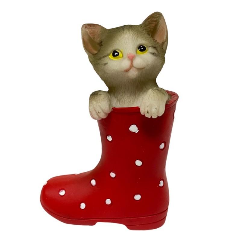 KEN78704  (6-144) Котенок в сапоге 7*3.5*10см