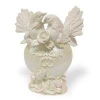 EPW31262  (24) Копилка Свадебные голуби на сердце  16см