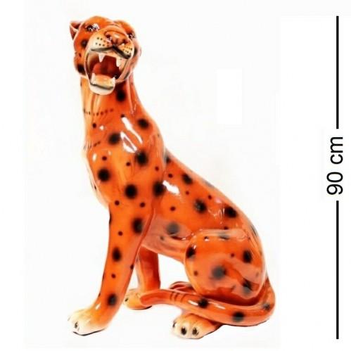 E2-3-36  (1) Фигура ЛЕОПАРД БОЛЬШОЙ, керамика H=90 см