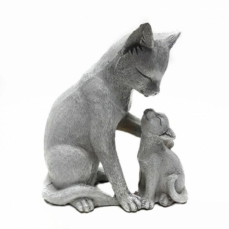 KEN78695  (1-36) Кошка с котенком 12.5*6.5*13.5см