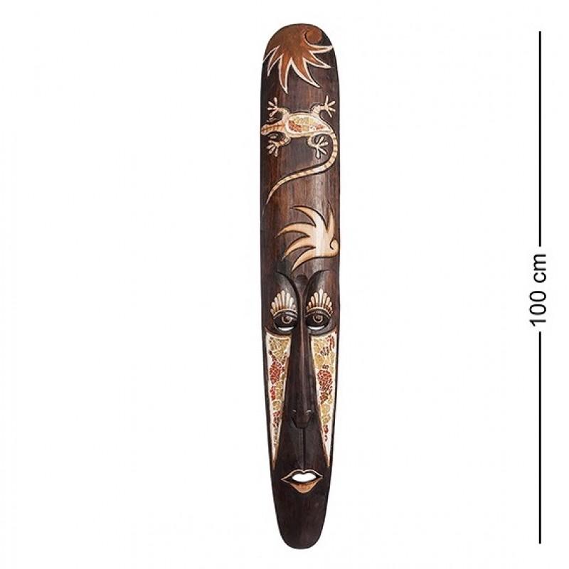 20-203 Панно настенное ''Маска'' (албезия, мозаика, о.Бали) 100 см