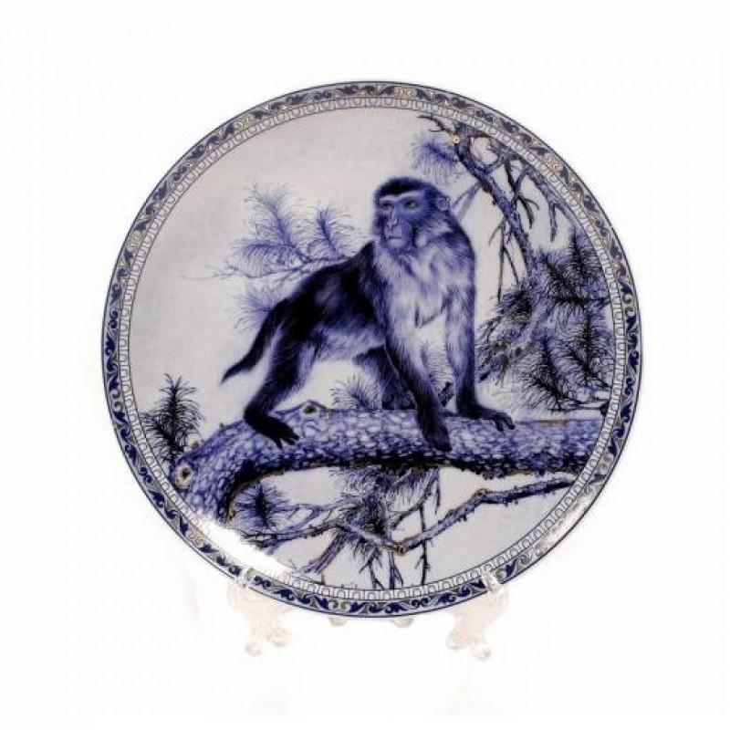P13457 (1-36) Декоративная тарелка-обезьяна 18см