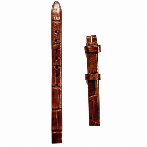 Ремешок  на часы  коричневый, натуральная кожа, ширина-8мм,  010 8
