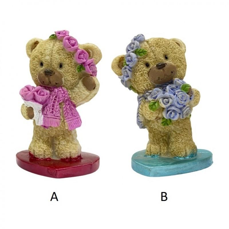PLA17411  (1-192) Фигурка Медвежонок на сердце 2 вида 5*4*8см