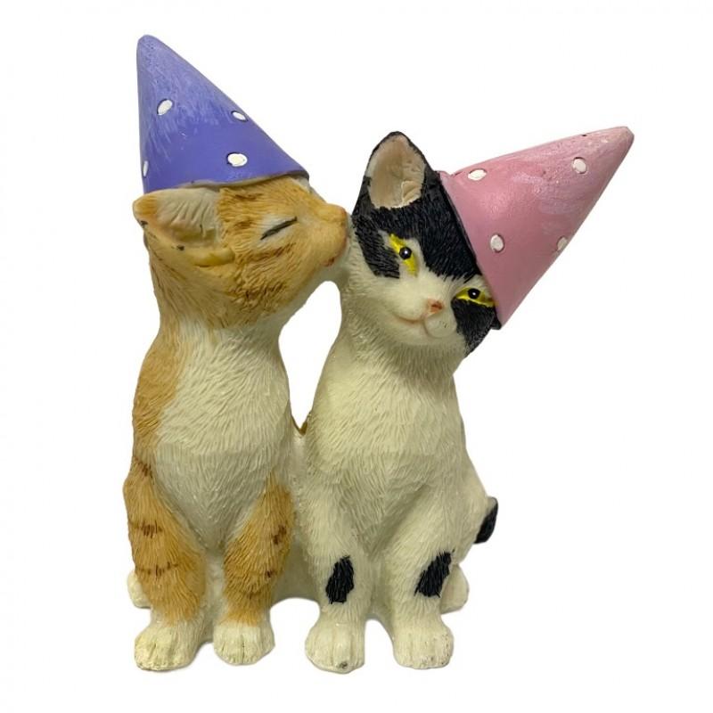 KEN78717  (4-72) Парочка кошек в колпачках 9*5.5*10см