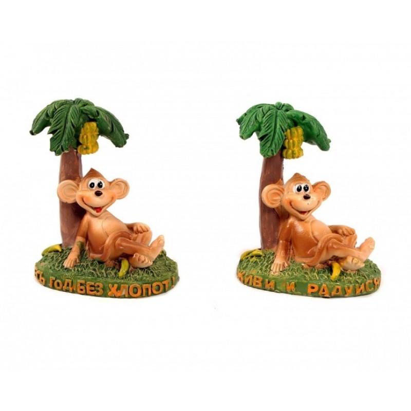 BEL39030  (4-192) Обезьянка с пальмой 6*4*7см