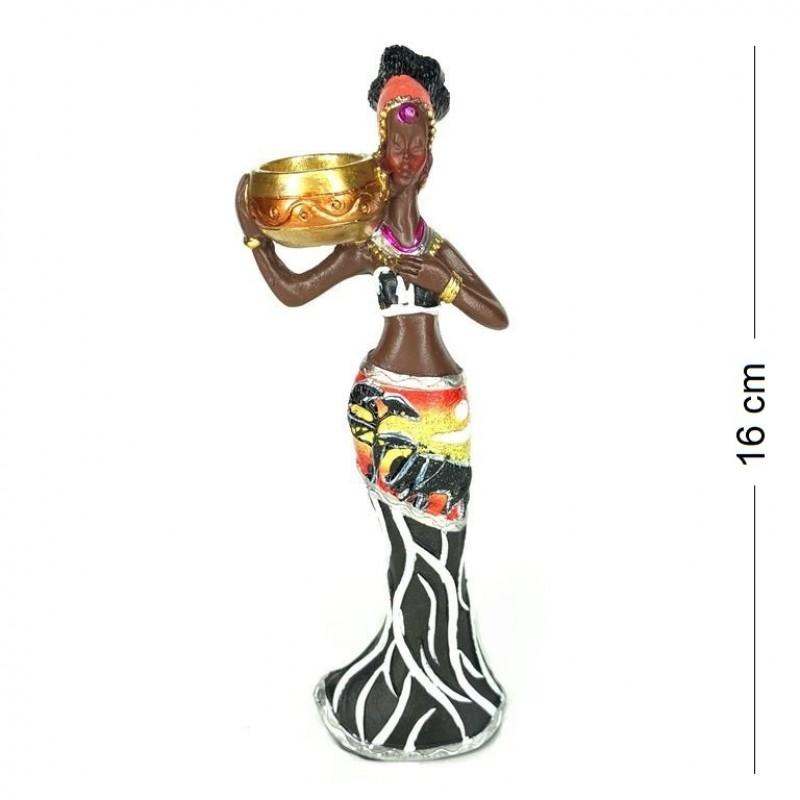 HOL19817  (2-72) Статуэтка Африканка-подсвечник 1 вид, . 6*4*16см