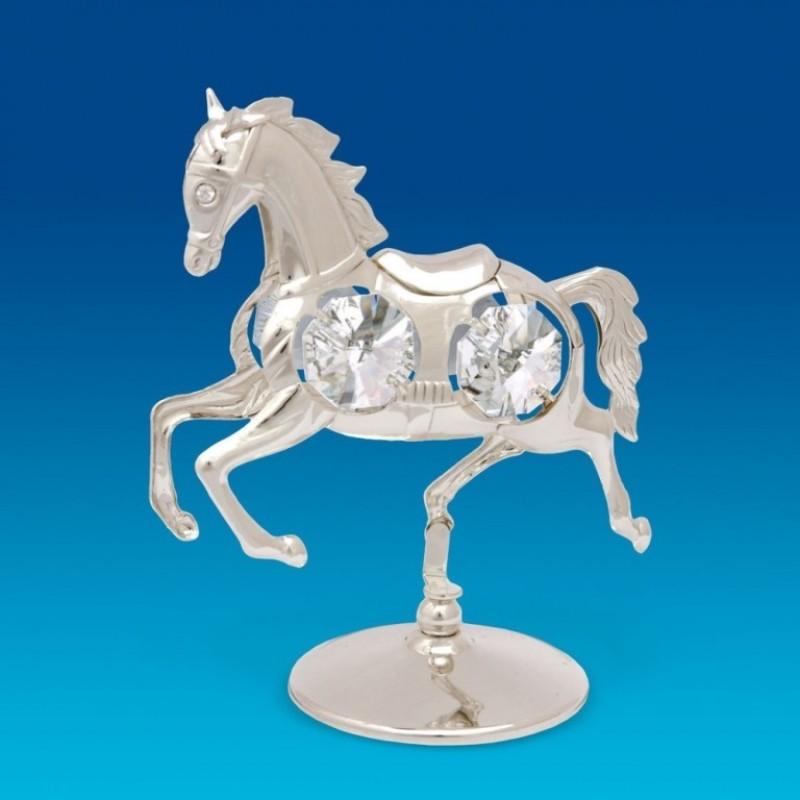 Swarovski 101 Фигурка Лошадь посеребнная .