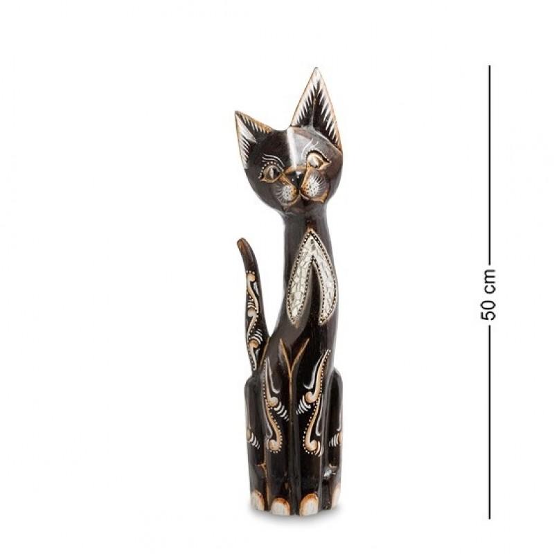 99-175 Фигурка Кошка 50см (албезия, о.Бали)