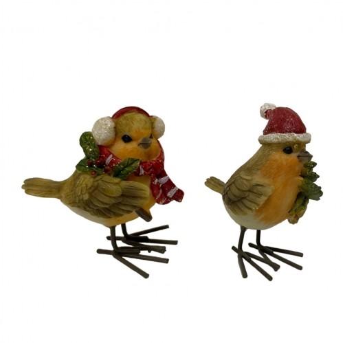 KEN78365  (12-288) Птичка новогодняя 2вида 6*4*7см