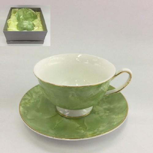 1607  (24) Чашка с блюдцем, 160 ml. в подарочной упаковке
