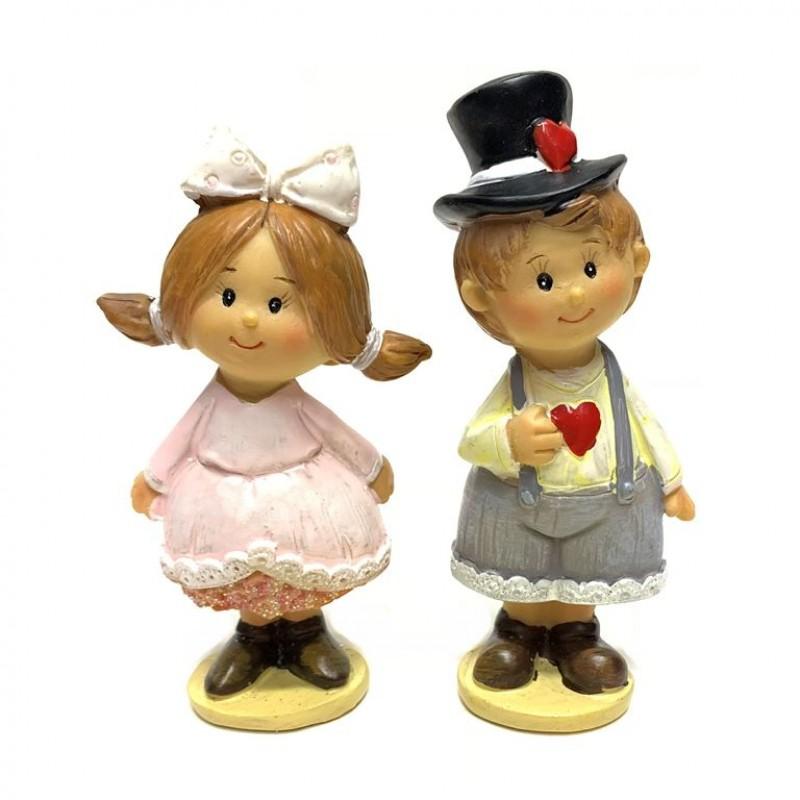 KB1885  (6-144) Фигурка Дети (мальчик, девочка) 6*3*11см