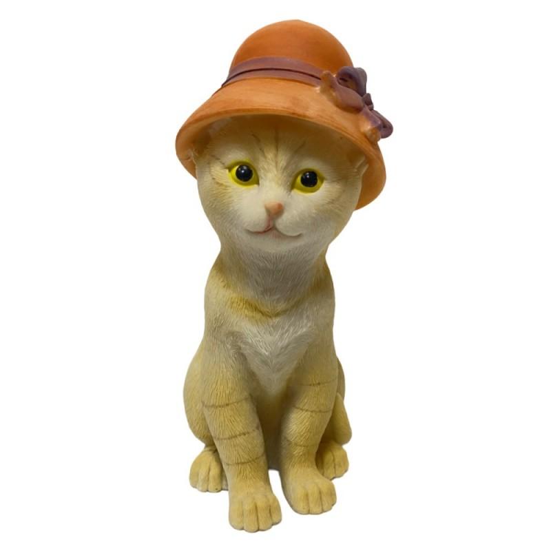 KEN78644  (1-36) Кошка в шляпе 10*7.5*16.5 см