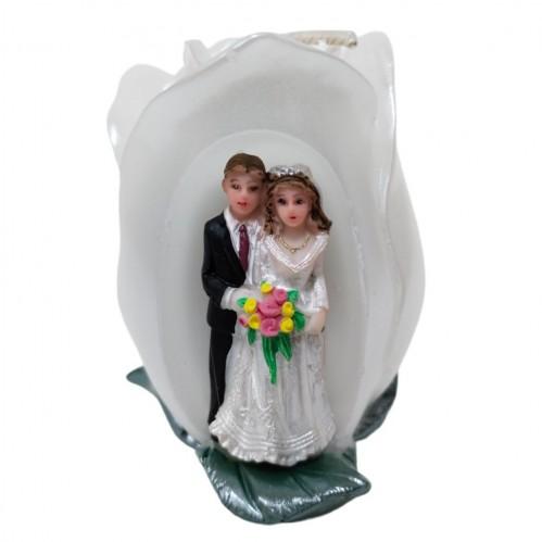 002004  (1-48) Свеча  свадебная 6*10см