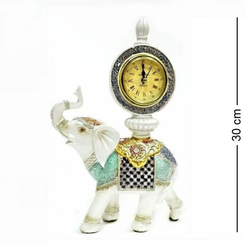 F-PK11151  (1-8) Слон с часами 21*8*30см