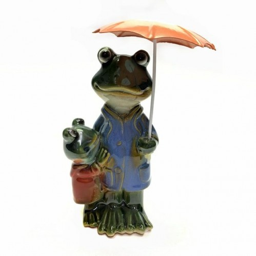 JY1987* Лягушки под зонтом 17*9 см