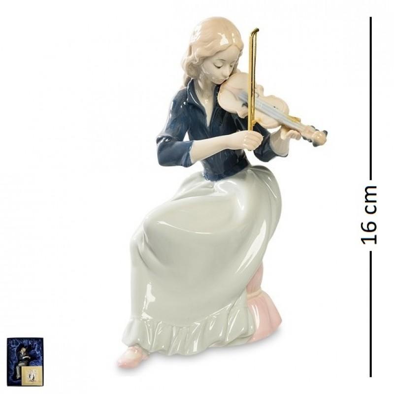 JP- 22/34 Статуэтка ''Девушка со скрипкой'' (Pavone) 16см