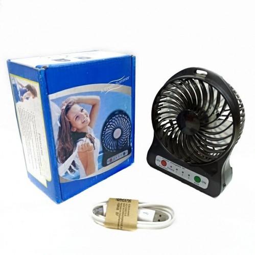 Вентилятор настольный на аккумуляторе F002 Usb. Чёрный 11*4*14см