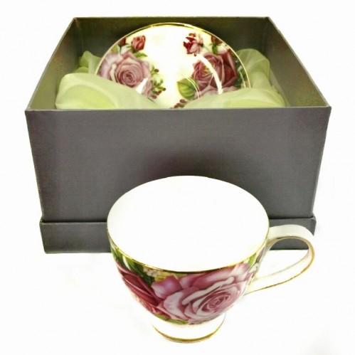 1608  (24) Чашка с блюдцем, 160 ml. в подарочной упаковке