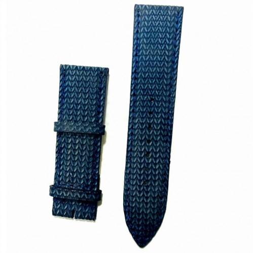Ремешок  на часы  синий, натуральная кожа, ширина-24мм,  017 24