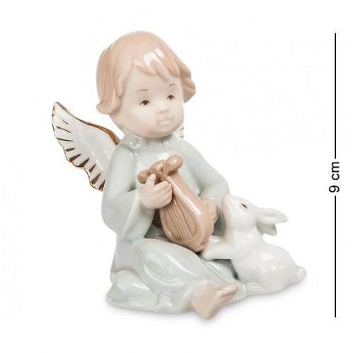 JP- 14/ 2 Фигурка ''Ангелочек-музыкант'' (Pavone) 9см