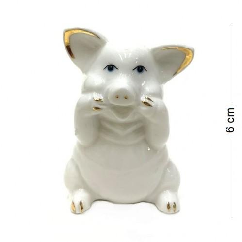 DIN3116  (1-288) Фигурка Свинка, фарфор 5*3*6см