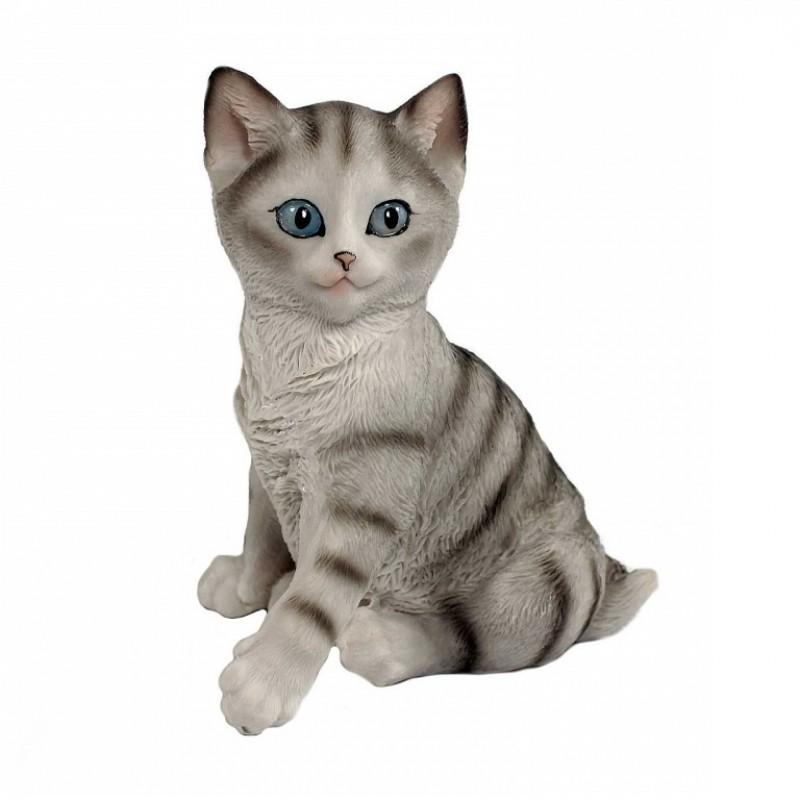 HOL20782  (1-24) Серый кот 11*8.5*13 см