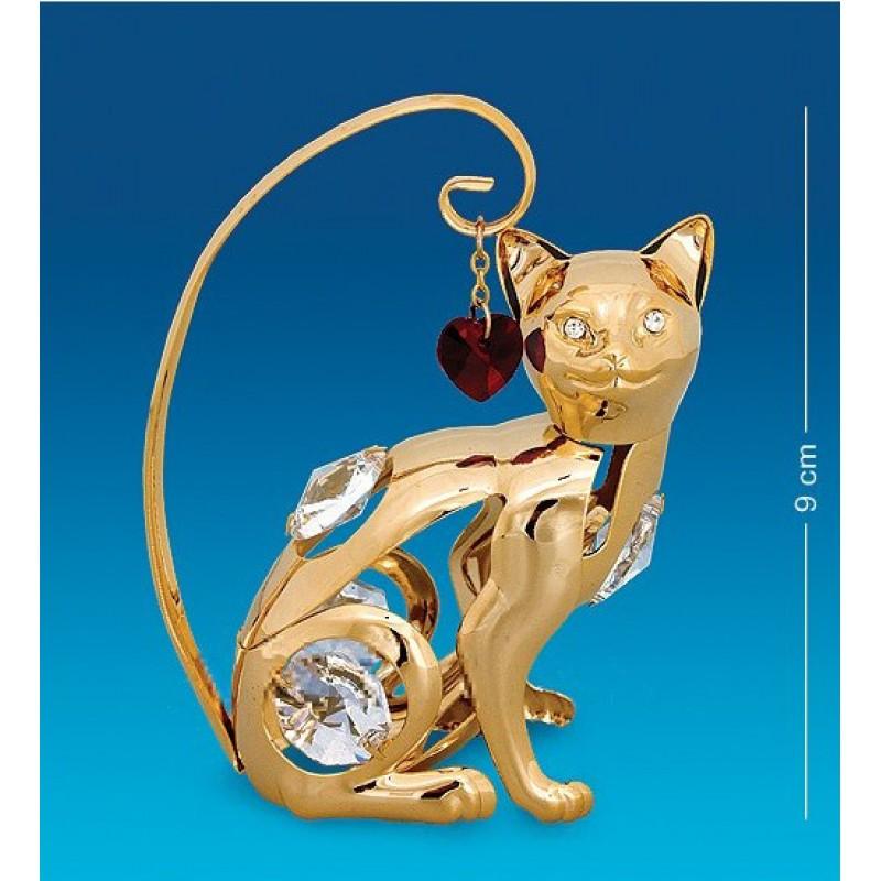 Swarovski 21 Фигурка Кошка с сердцем 6,5*3*7см