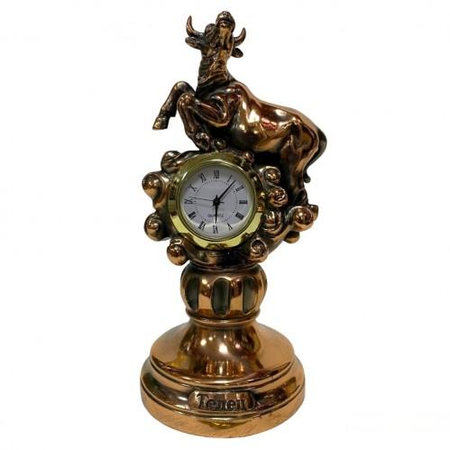 Статуэтка 1125 Часы-Знак зодиака Телец 15 см