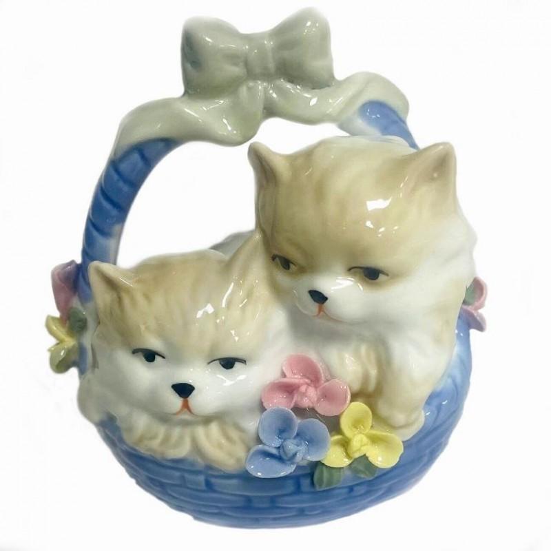 KL-.540  (48) Кошки в корзине, 10*10см ф/ф