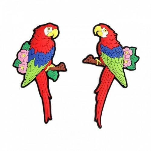 L50453  (24-576) Мягкий магнит - попугай 4*0,4*8см