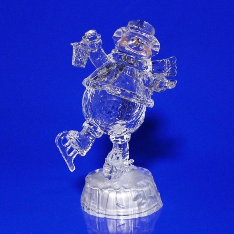 AK8303  (1-8) Снеговик со светом  16*11*20см