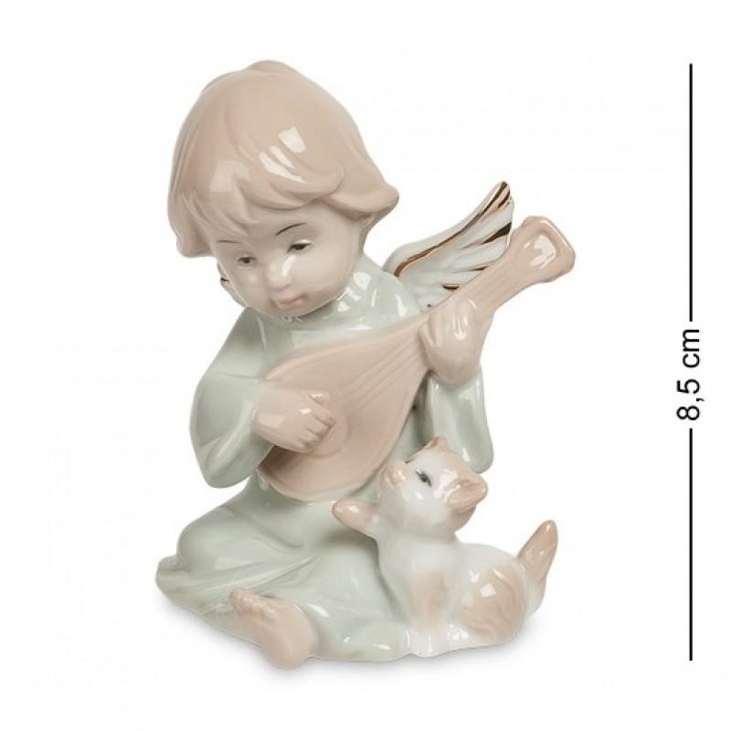 JP- 14/ 1 Фигурка ''Ангелочек-музыкант'' (Pavone) 8,5см
