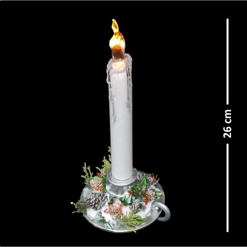 AK7768  (1-12) Светящаяся свеча 2вида10.4*9.4*25.5см