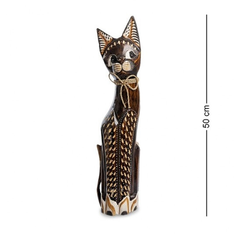 99-091 Фигурка Кошка 50см (албезия, о.Бали)