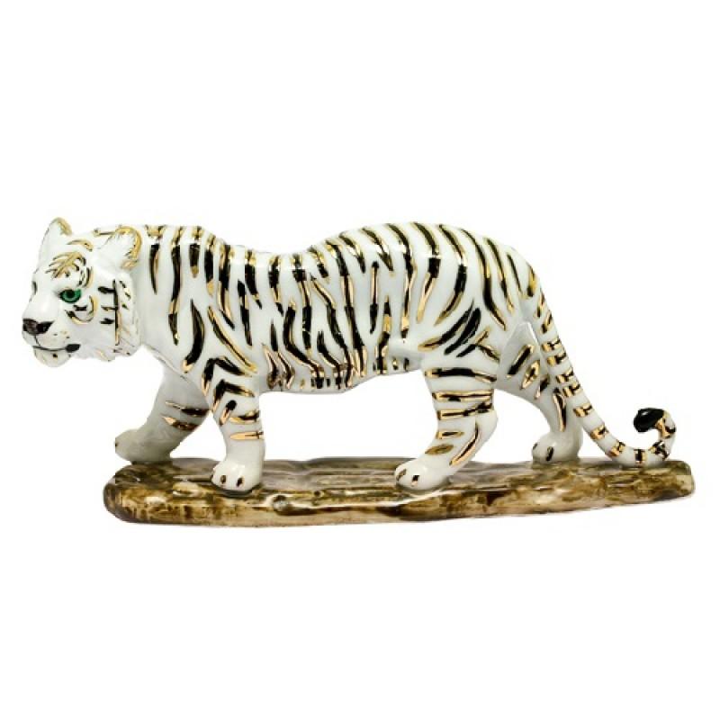 D-110118-B  (32) Фигурка Тигр белый, 16*9см