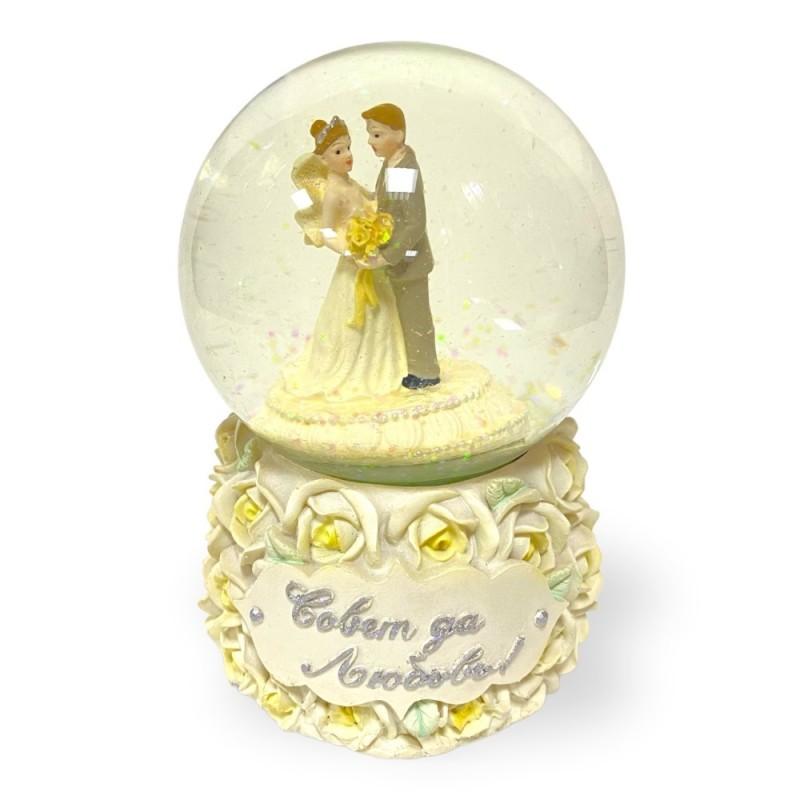NX26342  (1-12) Свадьба в шаре муз. 11*11*16см