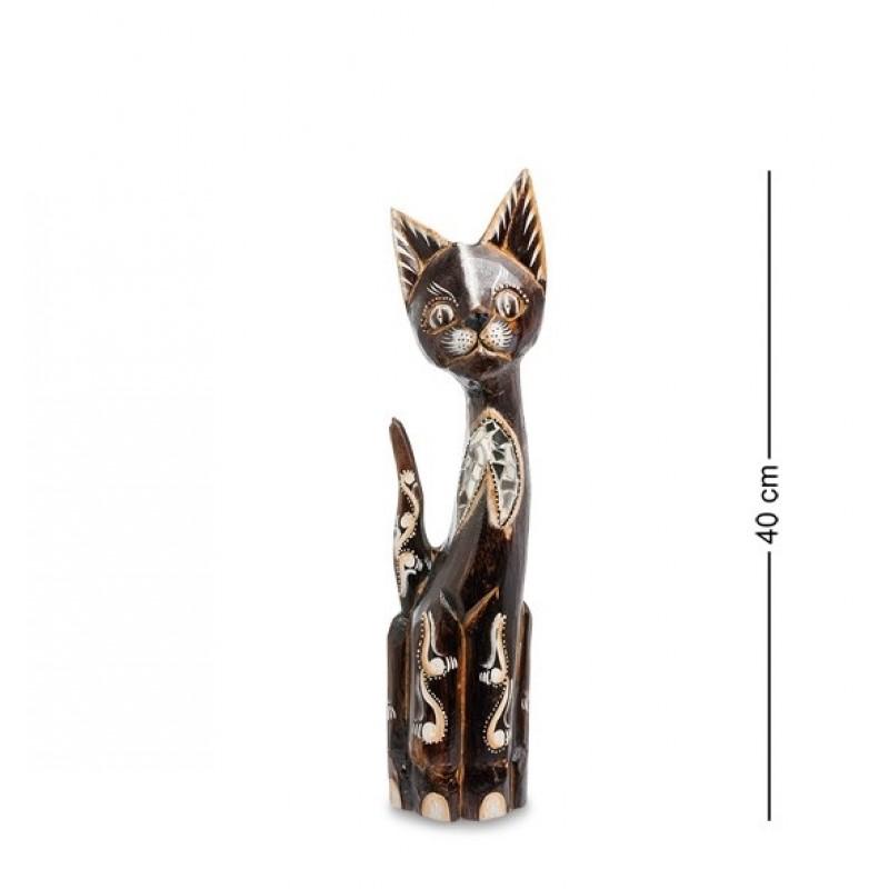 99-176 Фигурка Кошка 40см (албезия, о.Бали)
