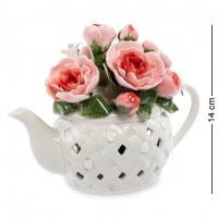 "CMS-33/39 Муз.композиция ""Чайник с цветами"" 10*14*18,5cм (Pavone)"